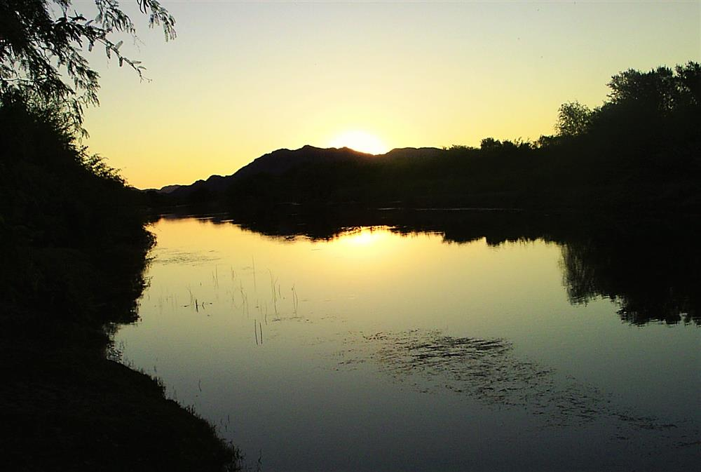 Sunset over the Lower Orange River