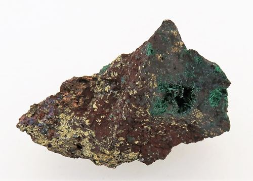 Picture of Malachite and Pyrite (Tsumeb, Namibia)