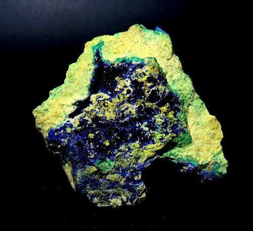 Picture of Azurite in Bindhemite (Australia)