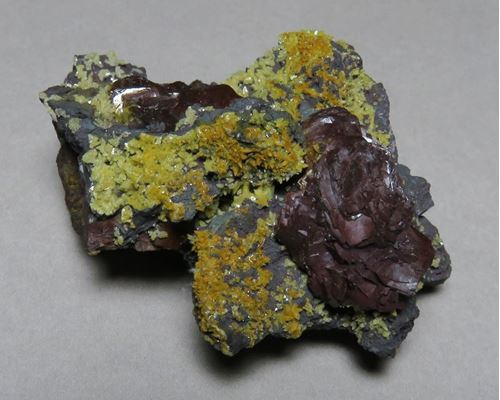 Picture of Goethite Ps Pyrite with Calcite (Kalahari Manganese Fields)