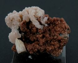 Picture of Andradite with Calcite (Kalahari Manganese Fields, South Africa)