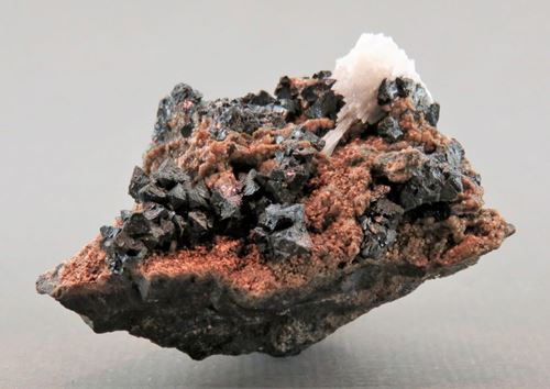 Picture of Hausmanite & Mangoancalcite (Kalahari Manganese Fields, South Africa)