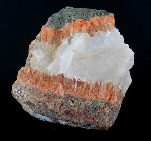 Picture of Stilbite, Calcite, Actinolite (Southern Australia)