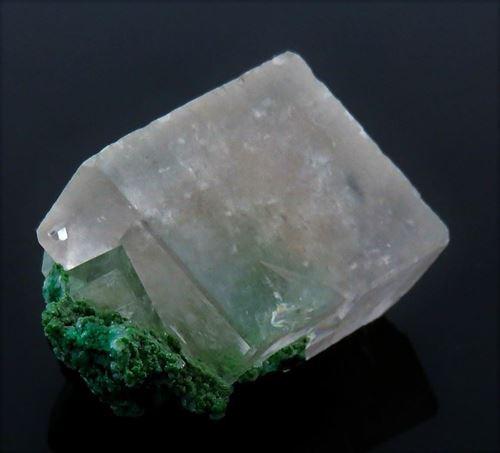 Picture of Calcite on Malachite (Tsumeb Namibia)