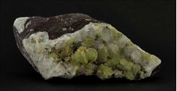 Picture of Prehnite with Calcite (Gobobosep, Namibia)