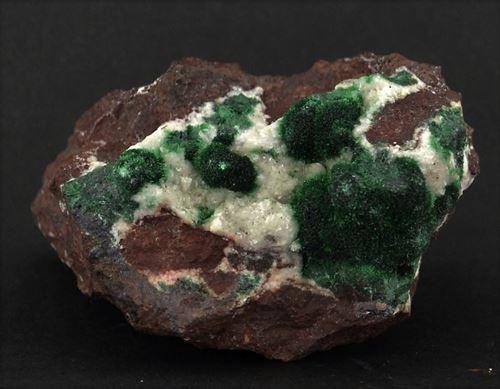 Picture of Malachite and Calcite (Tsumeb, Namibia)