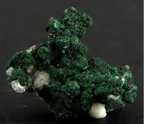 Picture of Conichalcite with Calcite (Tsumeb, Namibia)