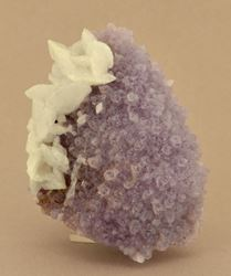 Picture of Calcite on Amethyst (Mexico)