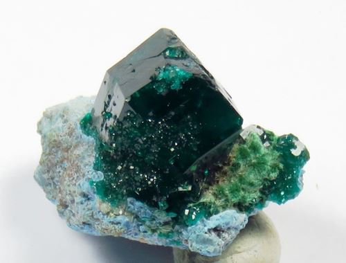 Picture of Dioptase with Malachite (Kaokoland, Namibia)