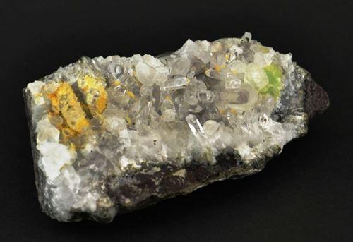 Picture of Quartz with Prehnite. (Brandberg West, Namibia)