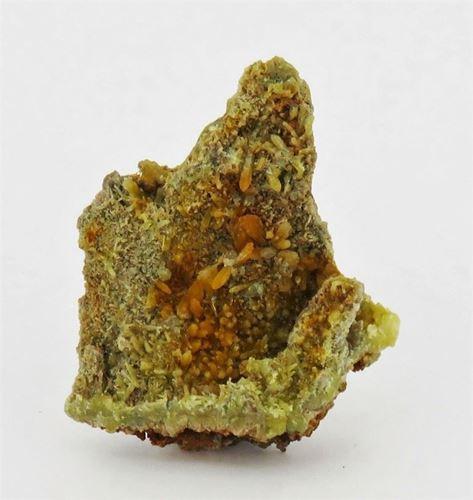 Picture of Mimetite on Smithsonite (Tsumeb, Namibia)