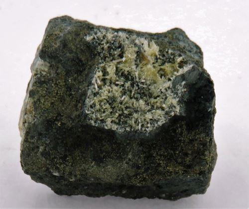 Picture of Mimetite on Galena (Tsumeb, Namibia)