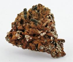 Picture of Goethite on Quartz with Mimetite (Tsumeb, Namibia)