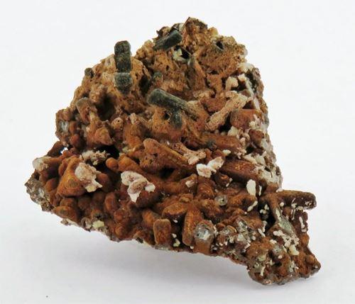 Picture of Goethite on Quartz with Mimetite (Tsumeb, Namibia)