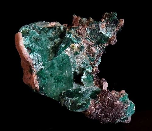 Picture of Malachite Pseudomorph after Azurite (Tsumeb, Namibia)