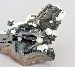Picture of Aragonite on Goethite (Northern Cape, South Africa)