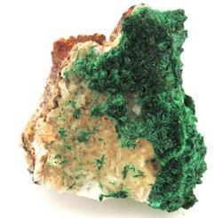 Picture of Malachite on Calcite (Tsumeb ,Namibia)
