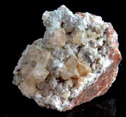 Picture of Calcite on Dolomite (Tsumeb, Namibia)