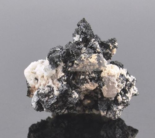 Picture of Hausmanite with Calcite (South Africa)