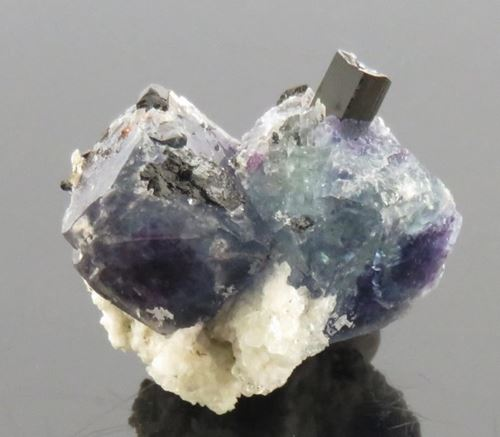 Picture of Fluorite & Black Tourmaline (Namibia)