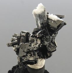 Picture of Black Tourmaline with Hyaline Opal (Namibia)