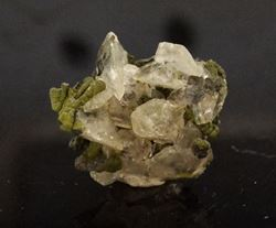 Picture of Calcite with Mottramite (Tsumeb, Namibia)