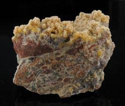 Picture of Mimetite, Calcite, Smithsonite (Tsumeb, Namibia)