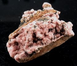 Picture of Rhodochrosite with Manganite (South Africa)