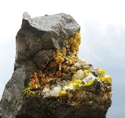 Picture of Sturmanite with Calcite (South Africa)