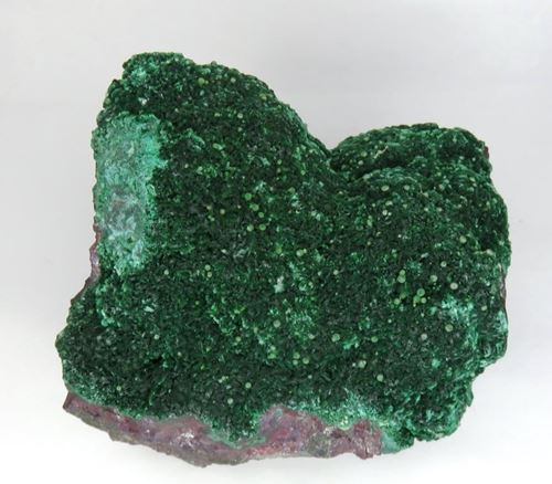 Picture of Conichalcite on Malachite (Tsumeb, Namibia)