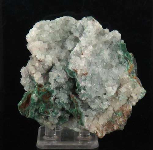 Picture of Calcite  with Malachite (Tsumeb, Namibia)