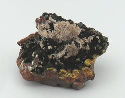 Picture of Goethite with Calcite (Kalahari Manganese Fields, South Africa)