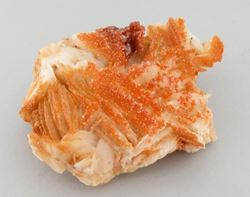 Picture of Vanadinite on Barite (Mibladen Mining Dist. Morocco)