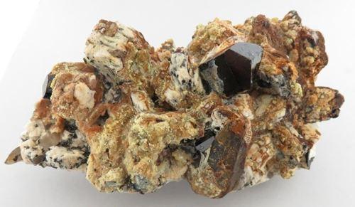 Picture of Feldspar, Hyaline Opal, Schorl & Quartz (Erongo, Namibia)