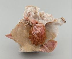 Picture of Inesite with Calcite (Kalahari Manganese Fields, South Africa)