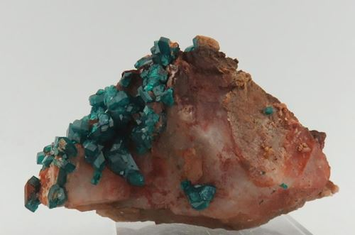Picture of Dioptase on Quartz (Namibia)