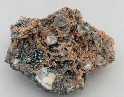 Picture of Calcite, Andradite, Hematite. (Kalahari Manganese Fields, South Africa )