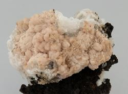 Picture of Olmiite with Calcite (Kalahari Manganese Fields, South Africa)