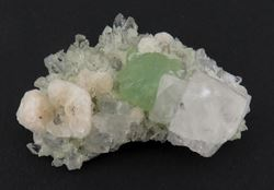 Picture of Prehnite with Quartz, Calcite and Analcime  (Erongo, Namibia)