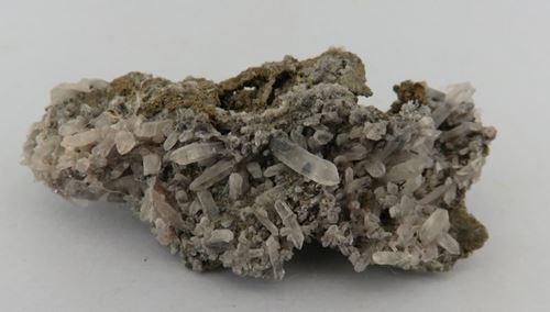 Picture of Quartz on Chalcopyrite (Tsumeb, Namibia)