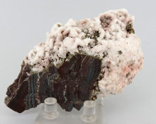 Picture of Calcite on Pyrite (Kalahari Manganese Fields, South Africa)