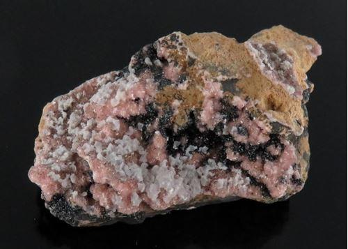 Picture of Mangoancalcite on Rhodochrosite (Kalahari Manganese Fields, South Africa)
