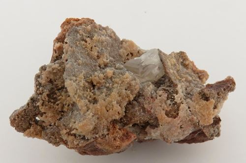 Picture of Cerussite on Dolomite (Tsumeb, Namibia)