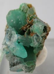 Picture of Linarite in Cerussite (Tsumeb, Namibia)