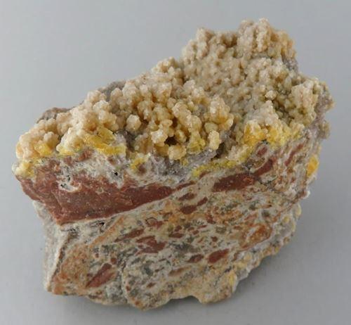 Picture of Mimetite & Calcite (Tsumeb, Namibia)