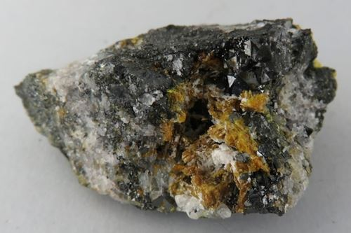 Picture of Sturmanite with Calcite (Kalahari Manganese Fields, South Africa)