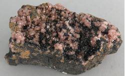 Picture of Rhodochrosite with Manganite (Kalahari Manganese Fields, South Africa)