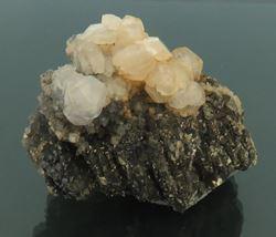 Picture of Calcite on Pyrite (Kosovo)