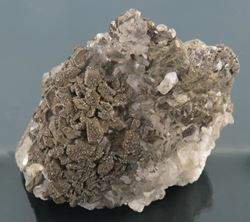 Picture of Pyrite on Calcite (Kalahari Manganese Fields, South Africa)