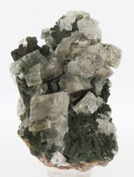 Picture of Calcite on Mottramite (Tsumeb, Namibia)